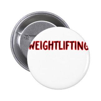 Weightlifting Design 6 Cm Round Badge