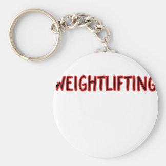 Weightlifting Design Basic Round Button Key Ring