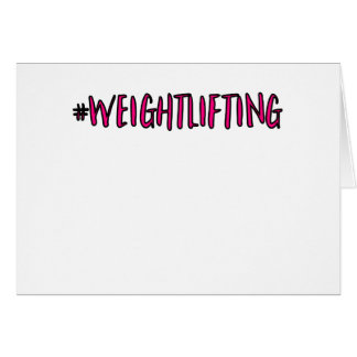 Weightlifting Design Card