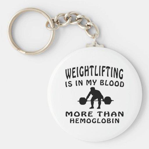 Weightlifting Design Key Chain