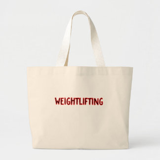 Weightlifting Design Large Tote Bag