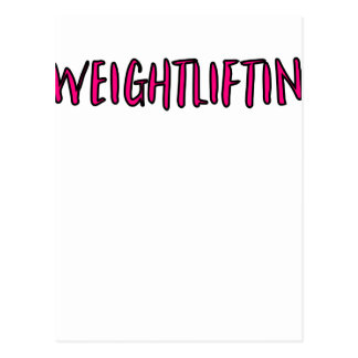 Weightlifting Design Postcard