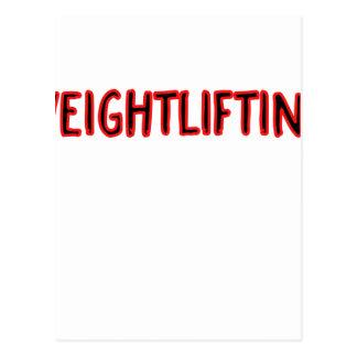 Weightlifting Design Postcard