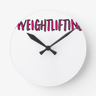 Weightlifting Design Round Clock