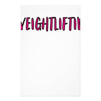 Weightlifting Design Stationery