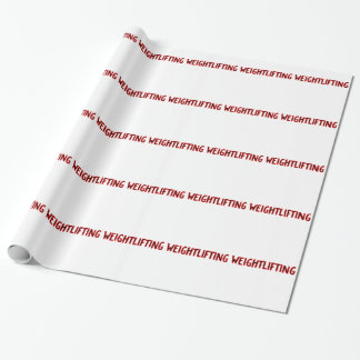 Weightlifting Design Wrapping Paper