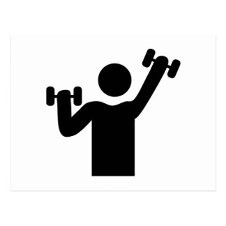 Weightlifting Exercise Postcard