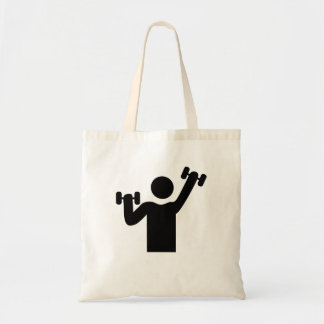 Weightlifting Gym Icon Bag