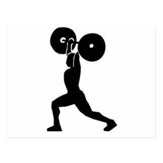 Weightlifting Gym postcard