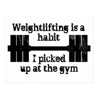 Weightlifting Habit Postcard