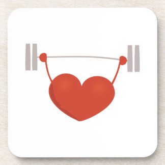 Weightlifting Heart Coasters