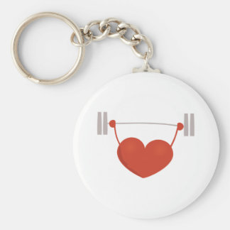 Weightlifting Heart Key Chain