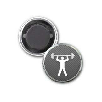 Weightlifting Icon 3 Cm Round Magnet