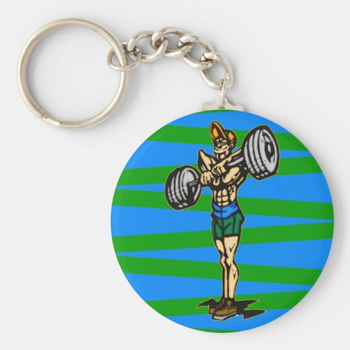 Weightlifting Key Chain