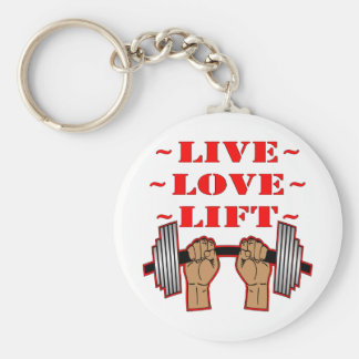 Weightlifting Live Love Lift Key Chains