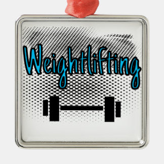 Weightlifting Metal Ornament