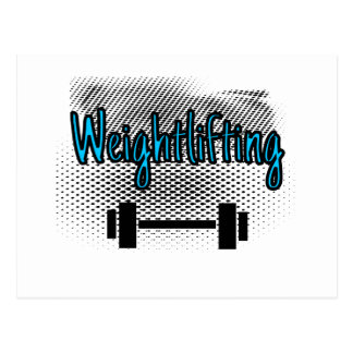 Weightlifting Postcard