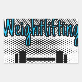 Weightlifting Rectangular Sticker