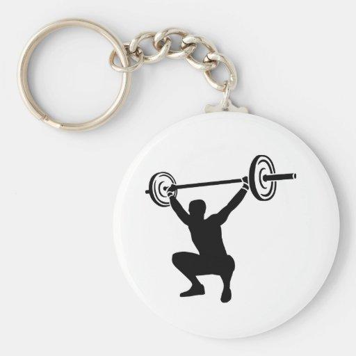Weightlifting sports keychain