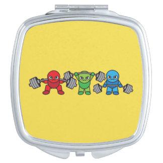 Weightlifting - Squat, Press, Deadlift - Kawaii Compact Mirrors