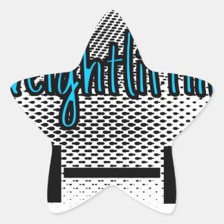 Weightlifting Star Sticker