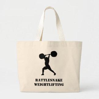 Weightlifting team large tote bag