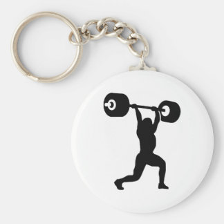 Weightlifting weightlifter key chain