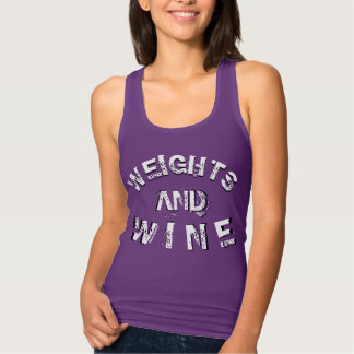 Weights & Wine Muscle Workout Racerback Top
