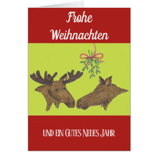 Weihnachstkarte with a moose pair card