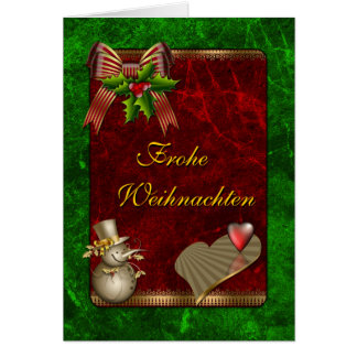 Weihnachts Design mit Schneemann und Herz Card