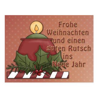 Weihnachtsmotiv mit Kerze Postcard