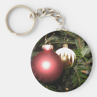 Weihnachtsschmuck Basic Round Button Key Ring