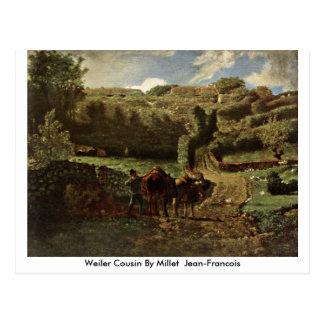 Weiler Cousin By Millet (Ii) Jean-Francois Postcard