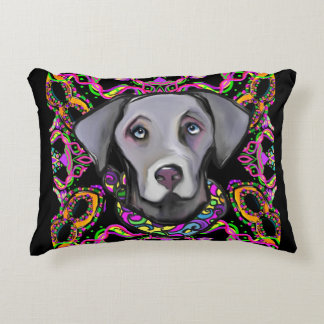 WEIMARANA MARDI GRAS DECORATIVE CUSHION