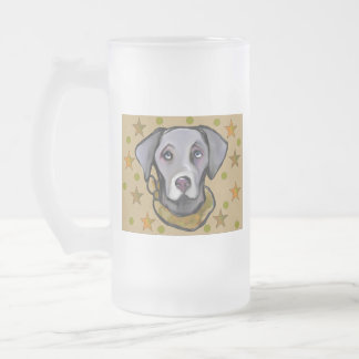 Weimarana Soldier Frosted Glass Beer Mug