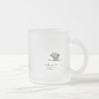 Weimaraner Chasing a Bird Frosted Glass Coffee Mug