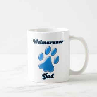 Weimaraner Dad blue Pawprint  Coffee Mug