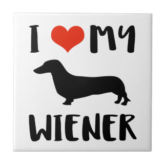 Weimaraner design ceramic tile