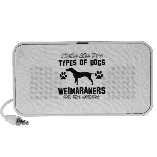 Weimaraner dog breed designs mini speakers