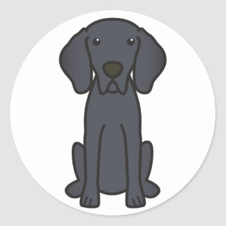 Weimaraner Dog Cartoon Classic Round Sticker