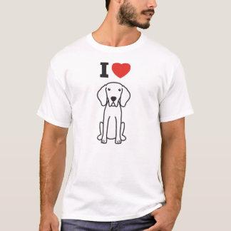 Weimaraner Dog Cartoon T-Shirt
