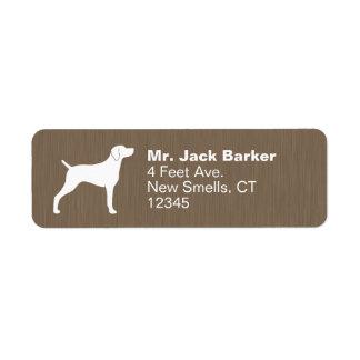Weimaraner Dog Silhouette Return Address Label