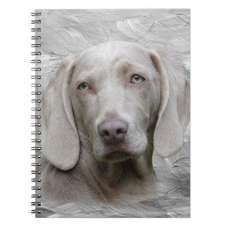 Weimaraner face spiral notebook