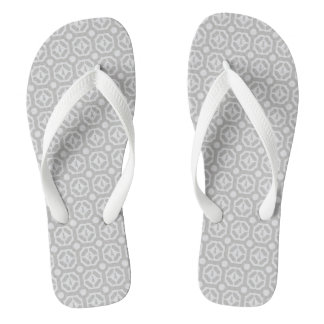 WEIMARANER HEXAGON TAUPE  BEACH SANDALS ADULT WIDE