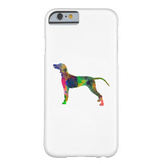Weimaraner in watercolor barely there iPhone 6 case