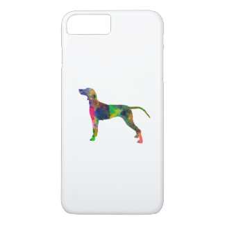 Weimaraner in watercolor iPhone 8 plus/7 plus case