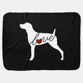 Weimaraner Love Baby Blanket