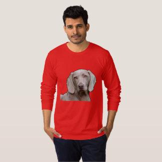 Weimaraner Men's Fine Jersey Long Sleeve T-S T-Shirt
