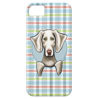 Weimaraner Pale Plaid Barely There iPhone 5 Case