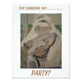 Weimaraner Party Invitation